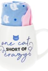 PAVILION One Cat Short Of Crazy Mug & Sock Set