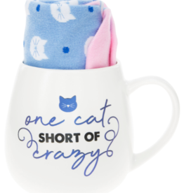 PAVILION One Cat Short Of Crazy Mug & Sock Set