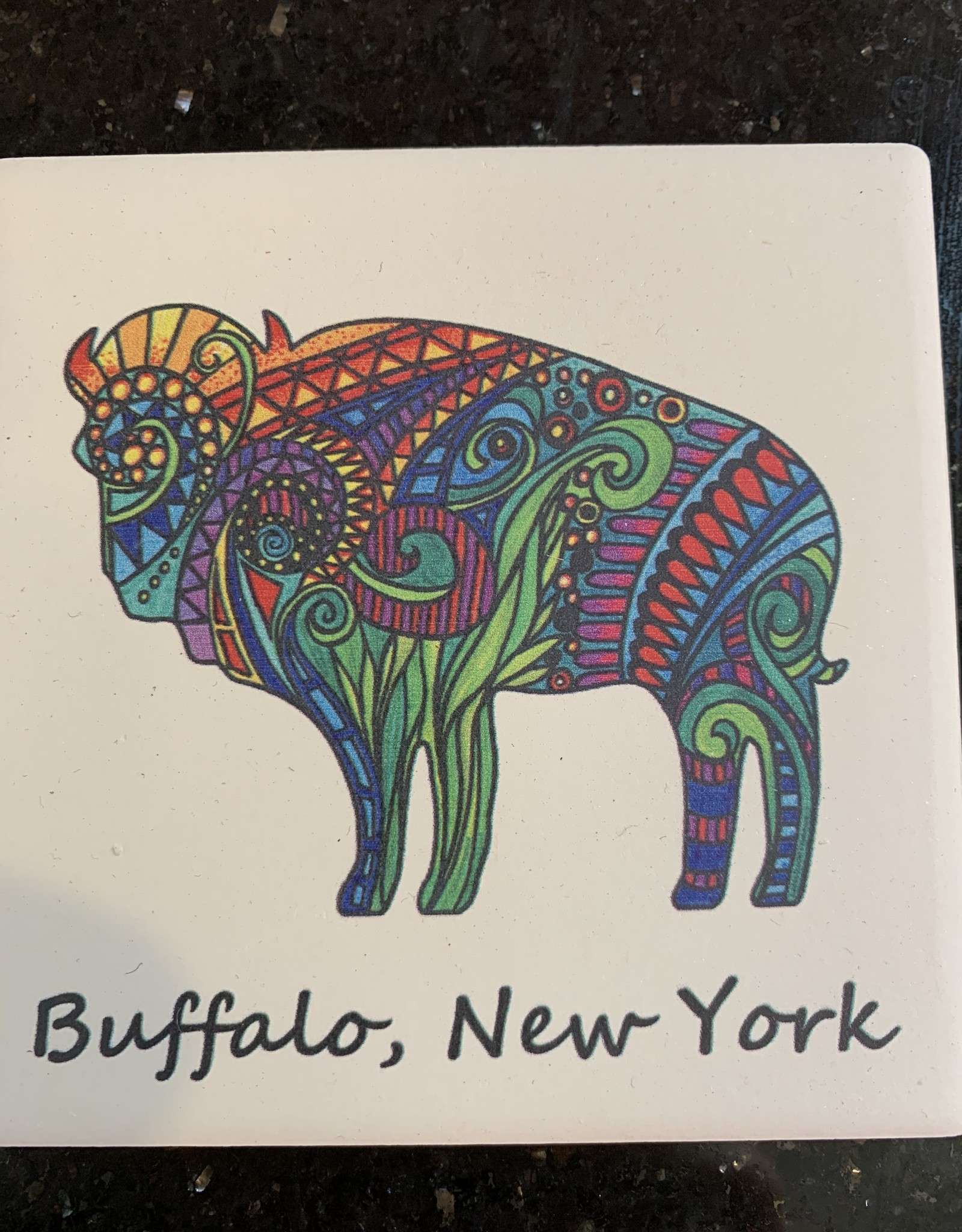 BUFFALO COASTER-COLORS OF LIFE