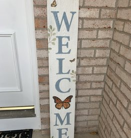 MY WORD WELCOME BUTTERFLY PORCH BOARD
