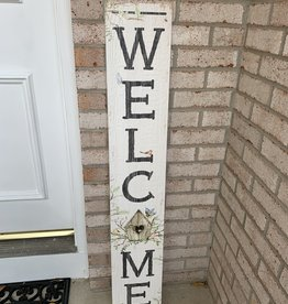 MY WORD WELCOME BIRDHOUSE PORCH BOARD