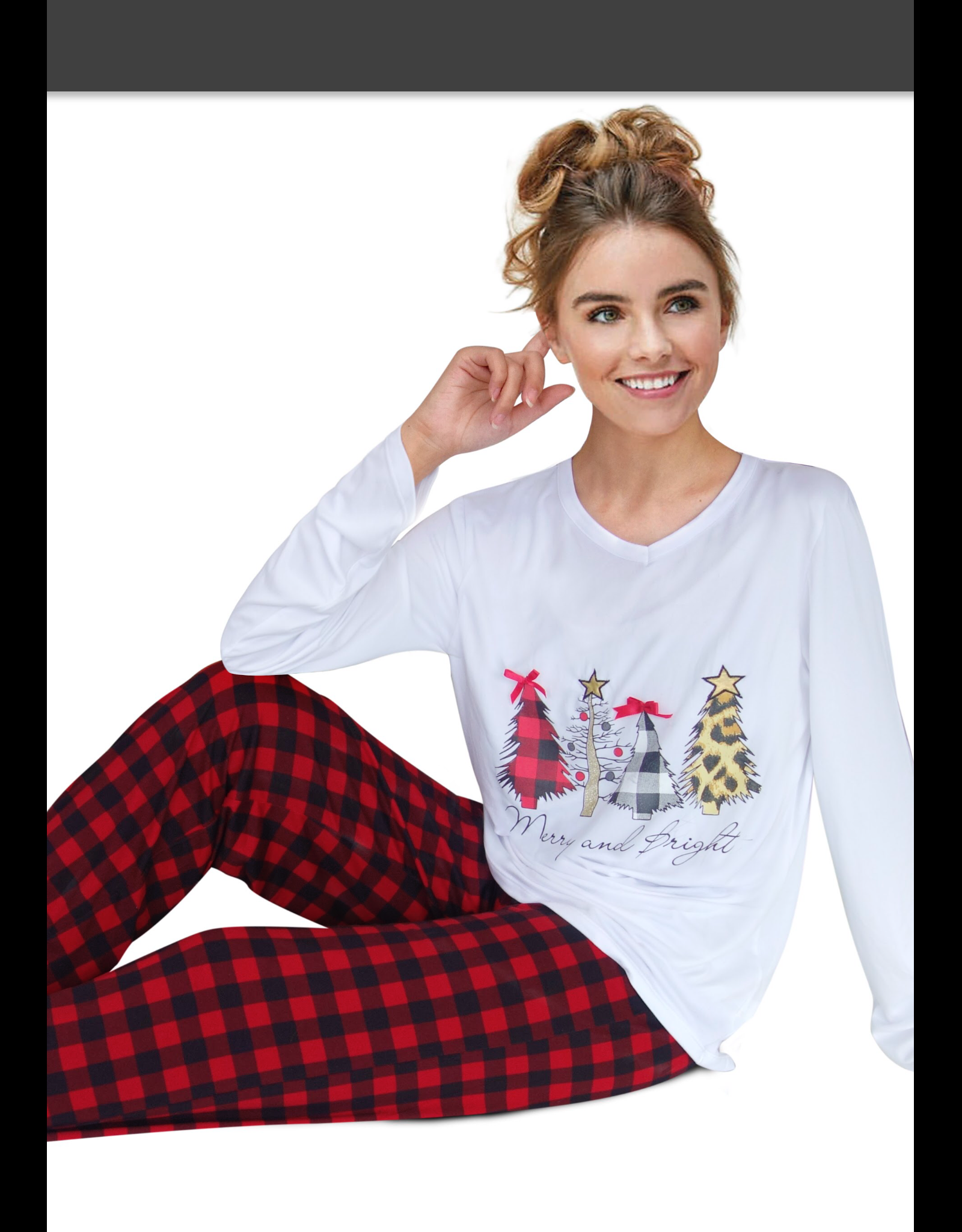 OPPORTUNITIES Women's Merry and Bright PJ Set