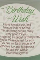 EARTH ANGEL Earth Angel Candle - Birthday Wish