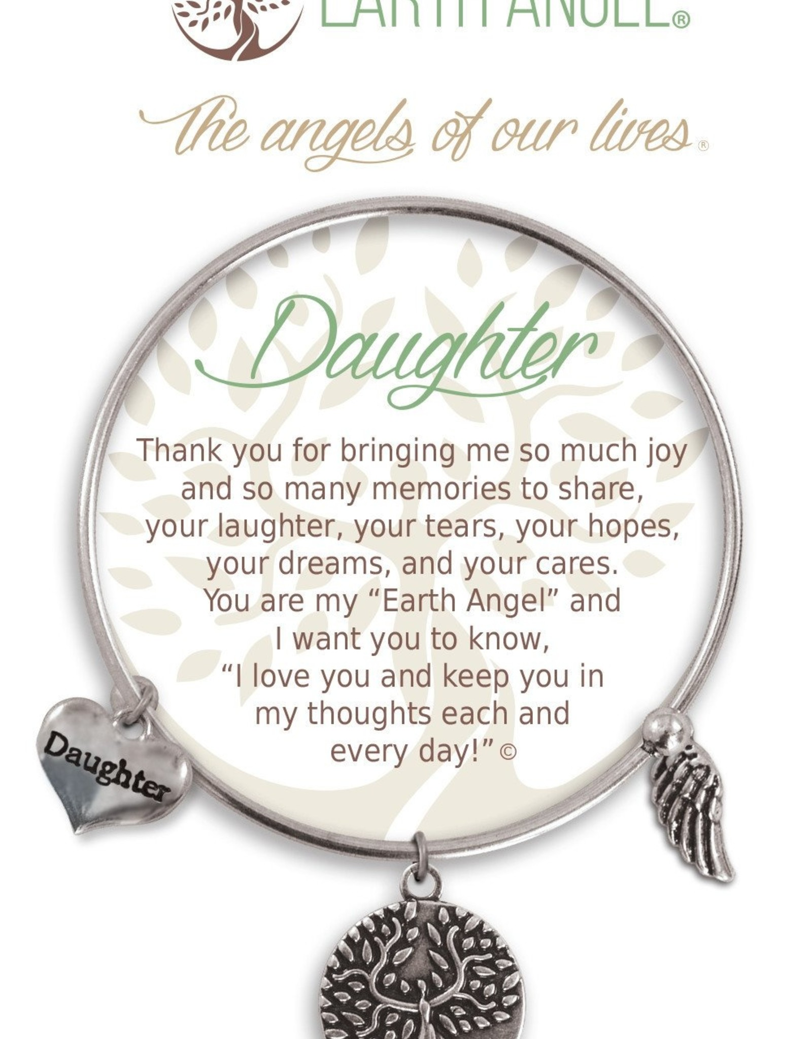 CLOCK IT TO YA EARTH ANGEL BRACELET - DAUGHTER