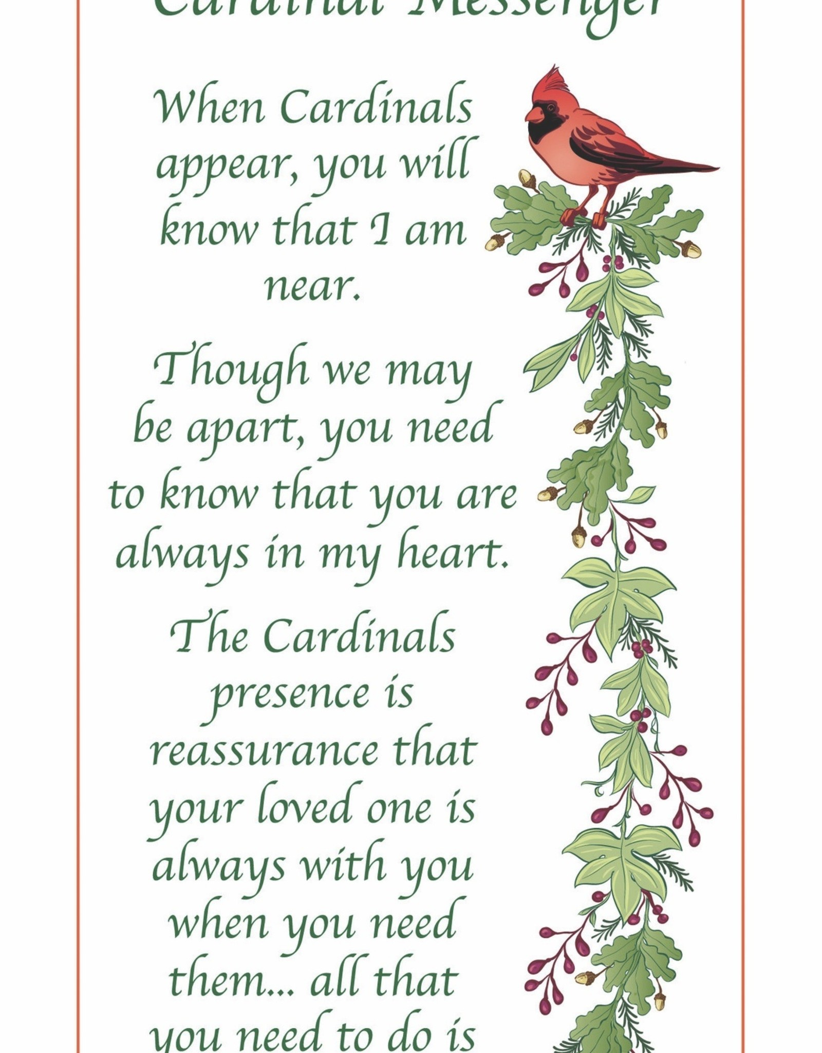 ENESCO Cardinal Messenger Ornament