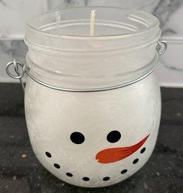 BLOSSOM BUCKET Peppermint Snowman Jar Candle