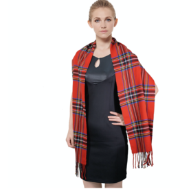 FIRST NY WHOLESALE Cashmere Feel Scarf - Red Stewart Plaid