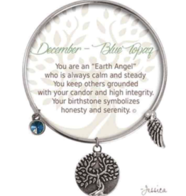 CLOCK IT TO YA EARTH ANGEL BRACELET - DECEMBER: BLUE TOPAZ