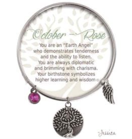 CLOCK IT TO YA EARTH ANGEL BRACELET - OCTOBER: ROSE