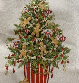 MARY LAKE THOMPSON Tree with Gingerbread Dishtowel