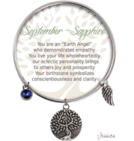 CLOCK IT TO YA EARTH ANGEL BRACELET - SEPTEMBER: SAPPHIRE