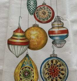 MARY LAKE THOMPSON Hanging Ornaments Dishtowel