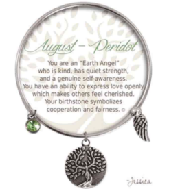 CLOCK IT TO YA EARTH ANGEL BRACELET - AUGUST: PERIDOT