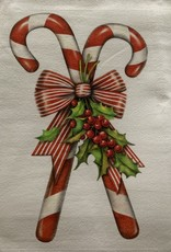 MARY LAKE THOMPSON Mary Lake Thompson Candy Canes Dishtowel