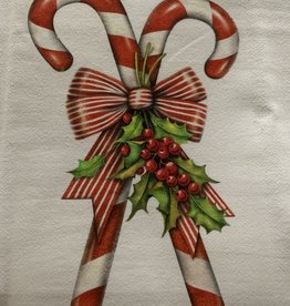 MARY LAKE THOMPSON Candy Canes Dishtowel