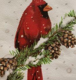 MARY LAKE THOMPSON Cardinal Dishtowel