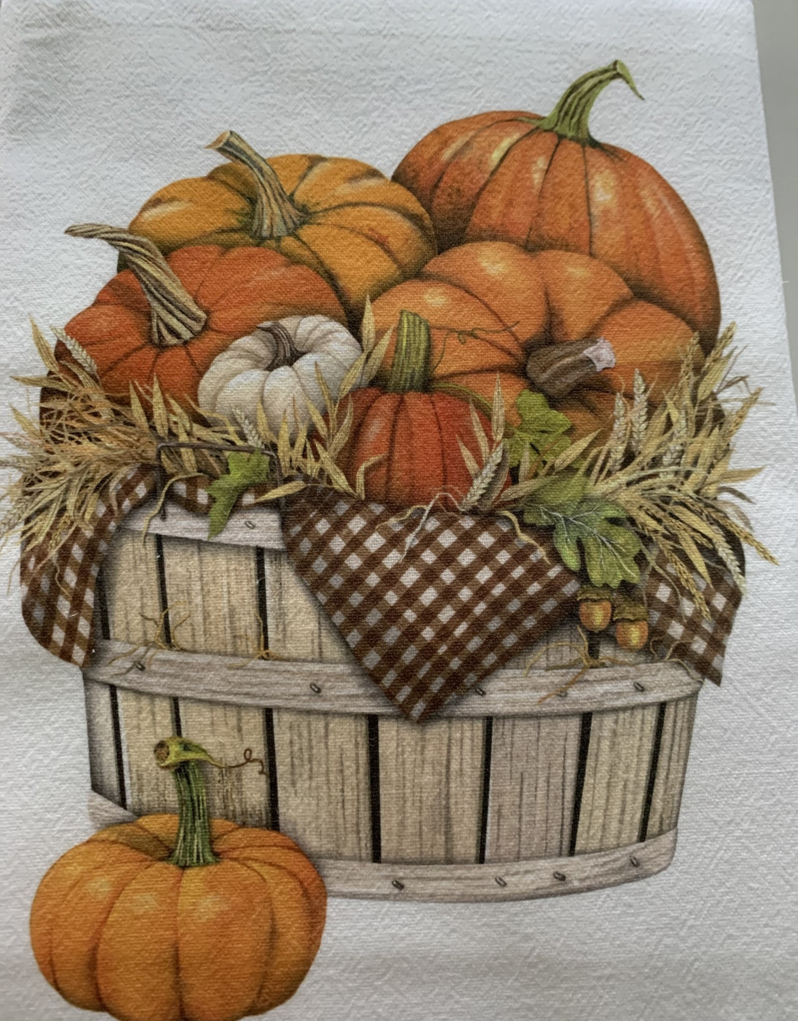 MARY LAKE THOMPSON Mary Lake Thompson Pumpkin Basket Dishtowel