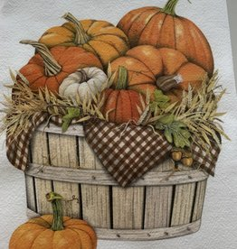MARY LAKE THOMPSON Pumpkin Basket Dishtowel