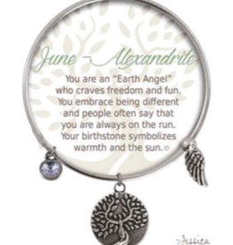 CLOCK IT TO YA EARTH ANGEL BRACELET - JUNE: ALEXANDRITE