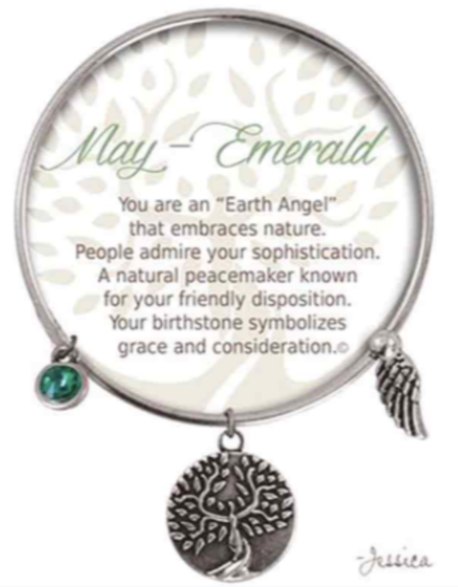CLOCK IT TO YA EARTH ANGEL BRACELET - MAY: EMERALD