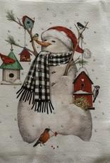 MARY LAKE THOMPSON Mary Lake Thompson Snowman with Birdhouse Dishtowel
