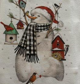 MARY LAKE THOMPSON Snowman with Birdhouse Dishtowel
