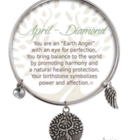 CLOCK IT TO YA EARTH ANGEL BRACELET - APRIL: DIAMOND