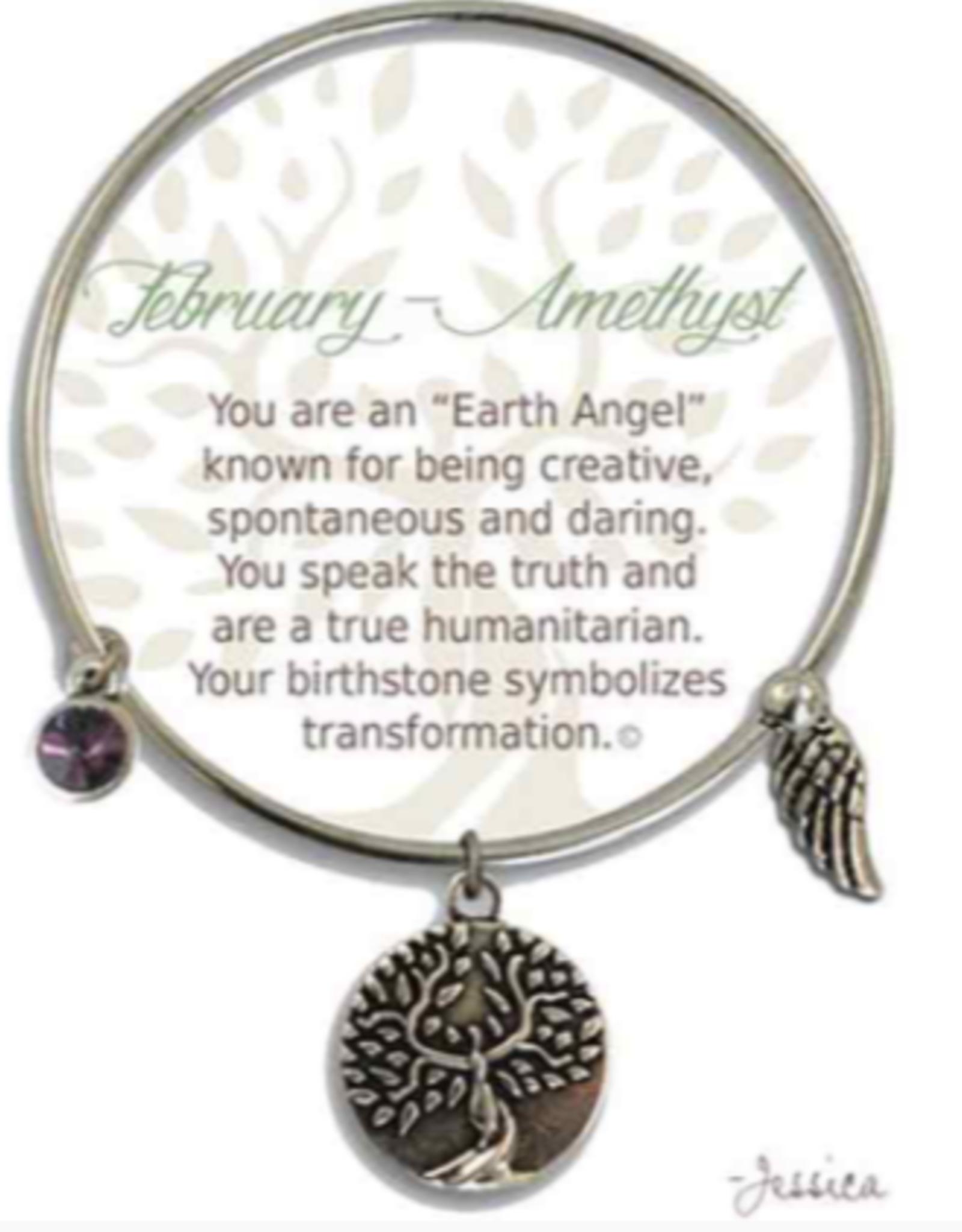 CLOCK IT TO YA EARTH ANGEL BRACELET - FEBRUARY: AMETHYST