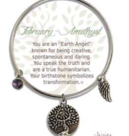 CLOCK IT TO YA EARTH ANGEL BRACELET - FEBRUARY: AMETHYST
