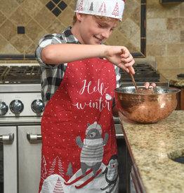 NIDICO Kids Xmas Apron with Chefs Hat