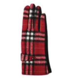 TOP IT OFF Brooklyn Gloves - Red Plaid
