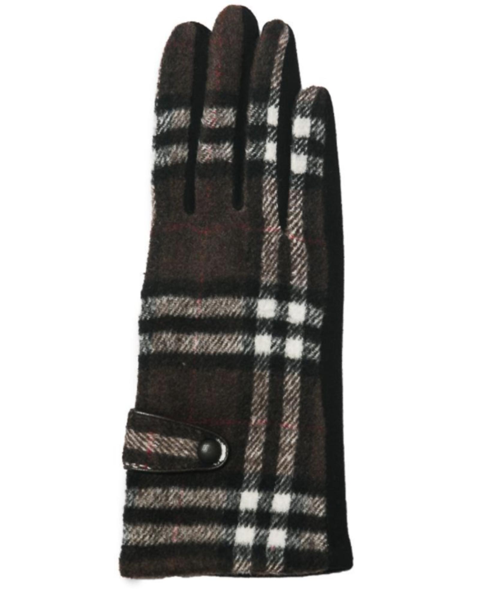 TOP IT OFF Brooklyn Gloves - Brown Plaid