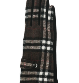 TOP IT OFF Brooklyn Gloves - Brown Plaid