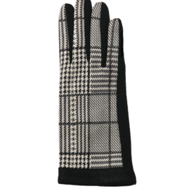 TOP IT OFF Valerie Glove - Black Plaid