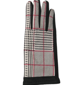 TOP IT OFF Valerie Glove - Black & Red Plaid
