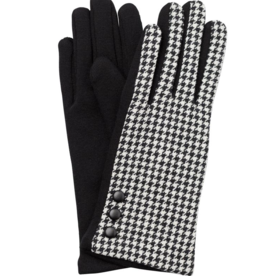 TOP IT OFF Lucia Glove - Black & White Houndstooth