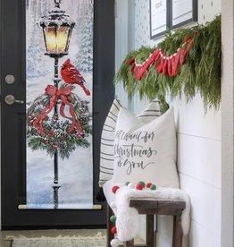 OPPORTUNITIES Wreath w/ Cardinal LED Door Hanger