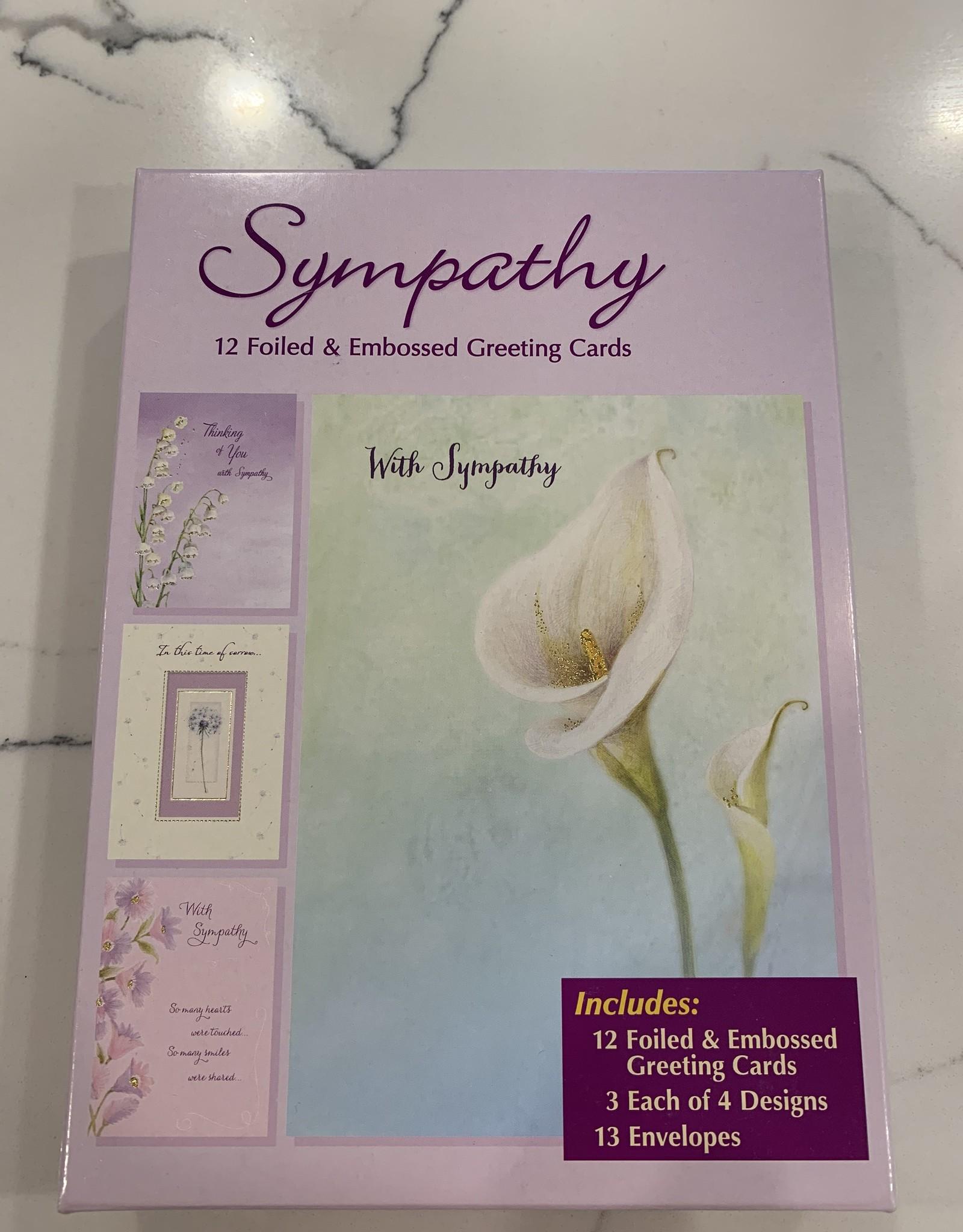 Designer Greetings Boxed Sympathy Assortment-12/box