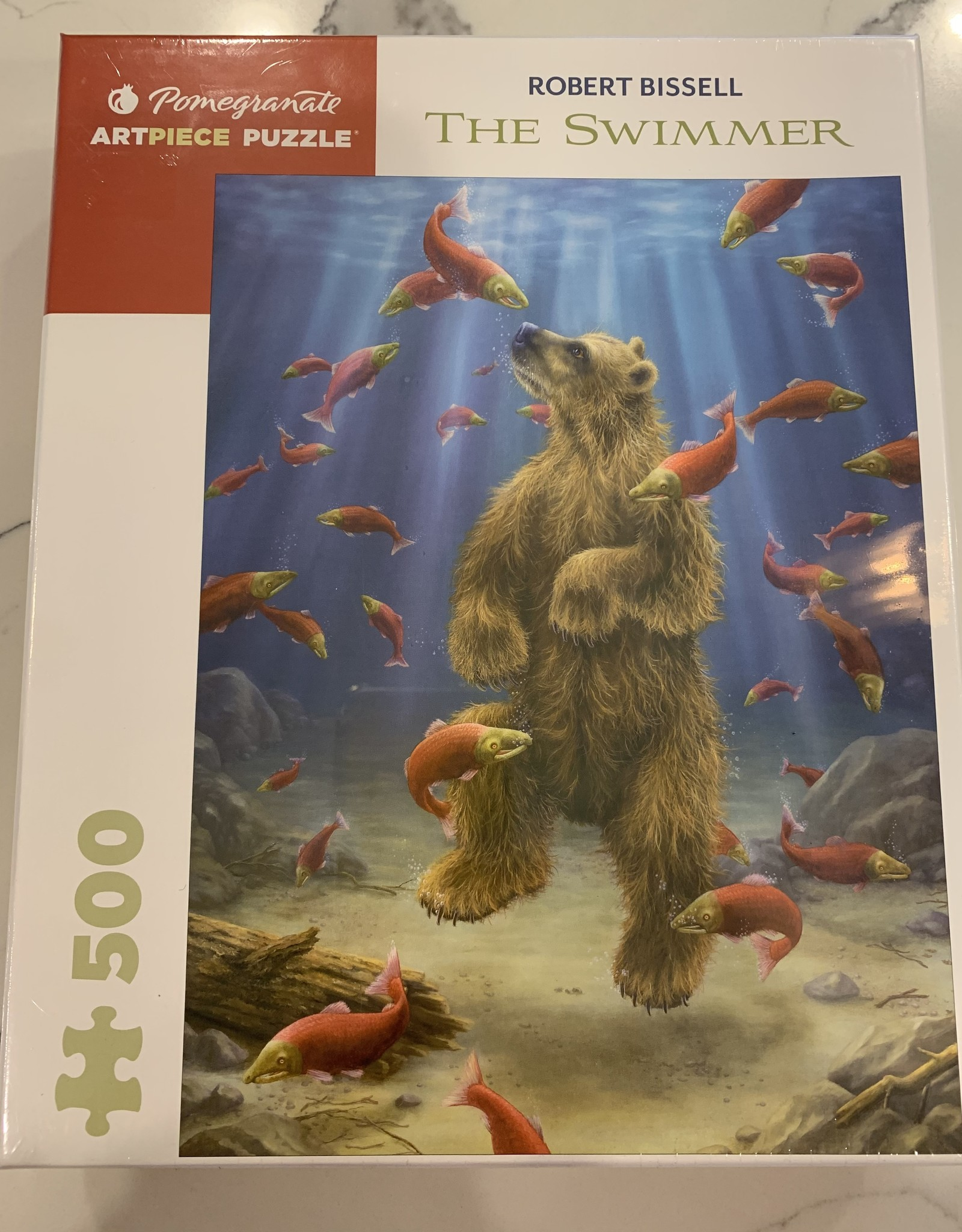 POMEGRANATE 500 pc Puzzle Robert Bissell The Swimmer