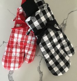 NIDICO Gingham Oven Mitt and 2 Dish Towels