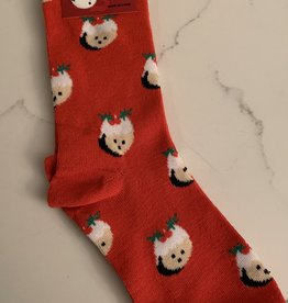 BUFFALO JEWELRY & GIFT Xmas Sock-Sugar Plum