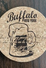 BUFFALO BEER STEIN CORK COASTER