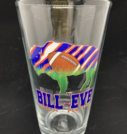 FEEL GOOD GREETINGS INK BUFFAL BILLS BILL EVE PINT GLASS