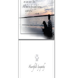 DOG SPEAK Dog Heartfelt Sympathy Greeting Card