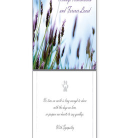 DOG SPEAK Dogs Always Remembered Sympathy Card