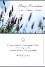 DOG SPEAK Dogs Always Remembered Sympathy Greeting Card