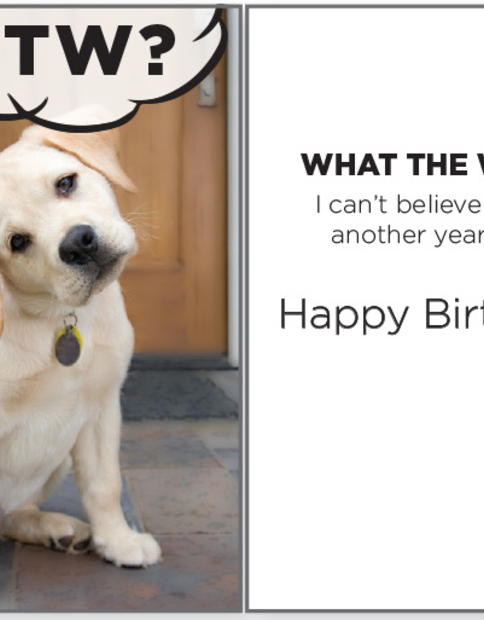 DOG SPEAK What The Woof Birthday Card