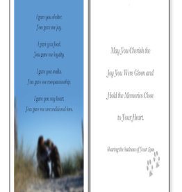 DOG SPEAK Shelter and Joy Sympathy Greeting Card
