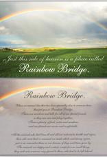 DOG SPEAK Rainbow Bridge Sympathy Card