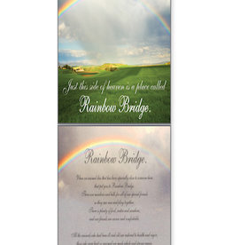DOG SPEAK Rainbow Bridge Sympathy Card